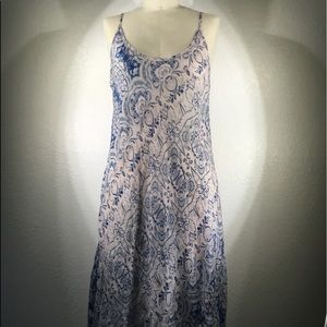 NWT Johnny Was rayon bias Midi Sun Dress Sz S